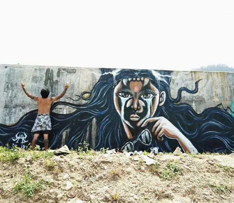 แม่เสือดำร่ำร้องไห้ เขาพลายดำ จ.นครศรีธรรมราช Art by Yak