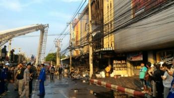 คืบหน้าไฟไหม้กลางเมืองราชบุรี-บาดเจ็บ2สูญหาย1คน