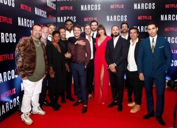 รวมเหล่านักแสดงซีรี่ส์ดัง 'Netflix' จัดฉายรอบปฐมทัศน์ 'นาร์โคส'(LiVE)