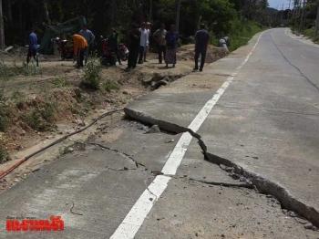 ร้องถนนพังหลังขุดวางท่อประปา วอนซ่อมด่วนชี้อุบัติเหตุบ่อย