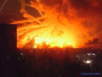 ไฟไหม้คลังแสงใหญ่ใน\'ยูเครน\' ปิดน่านฟ้า-อพยพปชช.