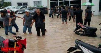 ฝนตกน้ำท่วมระยอง ถนนนิคมอุตสาหกรรม/มาบตาพุดอ่วม
