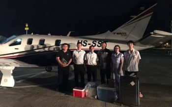อนุทินทิ้งภารกิจการเมือง สวมบทนักบินช่วยชีวิต4ผู้ป่วย
