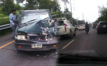หนุ่มบิ๊กไบค์น้ำใจงาม ขี่แซงหน้าฝ่ารถติดเปิดทางให้กู้ภัย