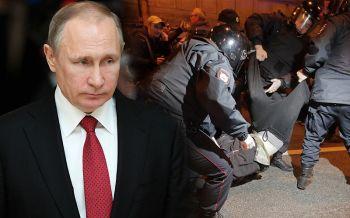ตร.รัสเซียจับผู้ชุมนุม290คน เดินขบวนประท้วงในวันเกิด\'ปูติน\'