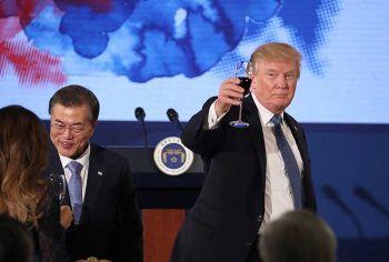 ทรัมป์เยือนเกาหลีใต้ต่อ หารือเรื่องเกาหลีเหนือ-การค้าทวิภาคี