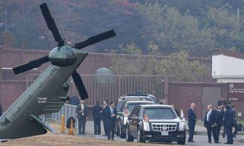 \'ทรัมป์\'อดเยือนเขตปลอดทหาร\'เกาหลีใต้-โสมแดง\' เหตุสภาพอากาศไม่ดี