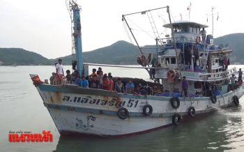 ชาวประมงสงขลานำเรือออกจับปลาแล้ว หลังเจอพายุ\'ดีเปรสชัน\'