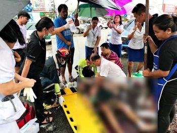 สุดยื้อ!กู้ภัยปั๊มหัวใจนักเรียนสัตหีบวัย13 ซิ่งจยย.อัดก๊อปปี้กระบะ