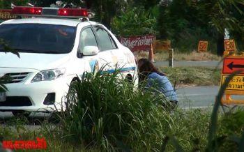 ญาติจุดธูปเชิญวิญญาณชาวญี่ปุ่น เสียชีวิตอุบัติเหตุรถตู้ชนท้ายสิบล้อ
