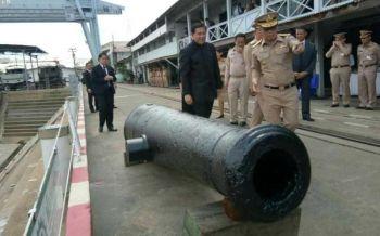 ขุดพบ'ปืนใหญ่'12กระบอกยุคธนบุรี-ต้นรัตนโกสินทร์ ฝังดิน130ปี