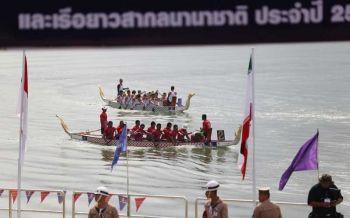 ระยองเปิดแข่งขันเรือพายนานาชาติชิงถ้วยพะราชทาน