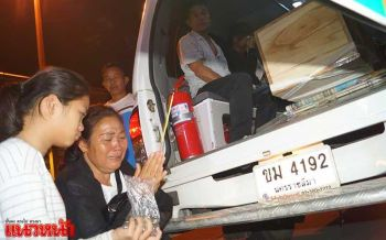 แม่ร่ำไห้จุดธูปรับศพสาวโคราช ถูกฆาตกรรมที่เกาหลีใต้กลับบ้านเกิด