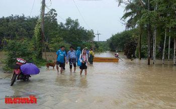 ตรังอ่วม! น้ำท่วมหนักถนนตัดขาดชาวบ้านเดือดร้อนหนัก