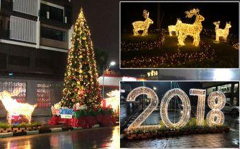 พังงา-หาดใหญ่คึกคัก ประดับไฟแสงสีต้นคริสต์มาสต้อนรับปีใหม่