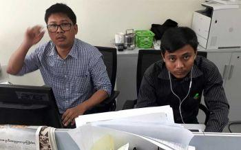 2นักข่าวรอยเตอร์ถูกขังต่ออีก14วัน สอบเพิ่มเอกสารลับยะไข่