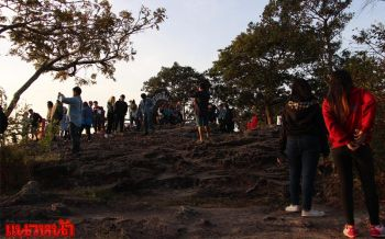นทท.กว่า3,000คนแห่ชมตะวันขึ้นสามแผ่นดิน อุทยานประกาศเว้นค่าเข้าช่วงปีใหม่