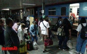 สถานีรถไฟหนองคายแน่น!ปชช.แห่เดินทางกลับหลังหยุดยาวช่วงปีใหม่