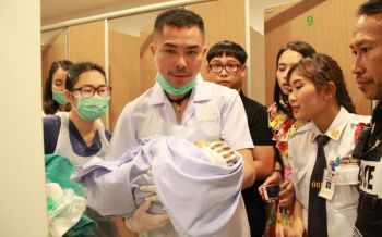 เศรษฐีใจบุญขออุปการะทารกถูกทิ้งในถังขยะ-พยาบาลตั้งชื่อน้องกอบสุข