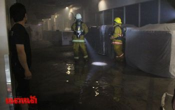ไฟไหม้แผงขายมือถือห้างดังกลางเมืองหาดใหญ่ คาดไฟฟ้าลัดวงจร