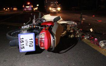 2นศ.เทคนิคขับจยย.ถูกกระบะชนล้มรถเหยียบซ้ำดับ1สาหัส1