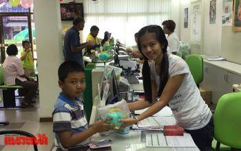 \'ธ.ก.ส.ทุ่งใหญ่\'เปิดทำการวันเด็ก  แจกของชำร่วย-ปลูกฝังเยาวชนรู้จักออมเงิน