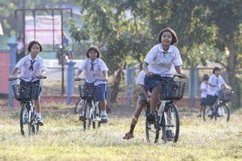 'มิตซูบิชิ'มุ่งสร้างโอกาสทางการศึกษา  ภายใต้โครงการ'ร้อยฝัน ปั่นจักรยานไปเรียน'
