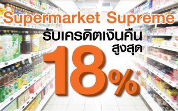 \'ธนชาต\'บุกตลาดซูเปอร์มาร์เก็ต ให้ลูกค้าบัตรเครดิตช้อปคุ้มรับเงินคืนสูงสุด18%