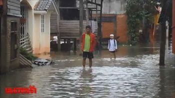 นราธิวาสน้ำท่วมระลอก2 หลังฝนตกหนักติดต่อกัน3วัน