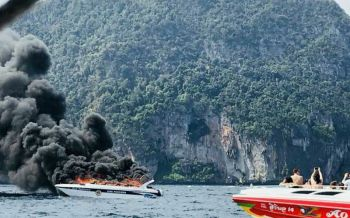 ด่วน! เรือสปีดโบ๊ทระเบิดกลางทะเลกระบี่ เจ็บอื้อ-ดับ1ศพ (ชมคลิป)