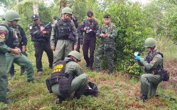 ทหารลาดตระเวนเจอกระสุน-วัตถุต้องสงสัยซุกป่าพรุปัตตานี