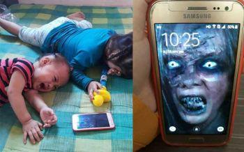 โซเชียลแห่แชร์! วิธีแก้ลูกน้อยติดโทรศัพท์ฉบับฮากร๊าก (ชมคลิป)