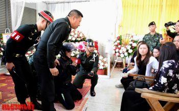 อโหสิกรรมให้ด้วย! ทหารมือยิงขอขมาศพหนุ่มผู้รับเหมา แม่-แฟนร้องไห้โฮทำใจไม่ได้