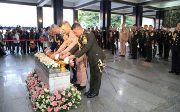 ผบ.ทสส.นำเหล่าทัพร่วมพิธีวันกองทัพไทย ยันยึดมั่นปกป้องอธิปไตย-รักษาความมั่นคง