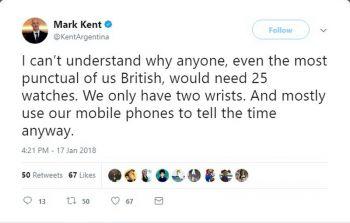 ไม่รู้พูดถึงใคร! อดีตทูตอังกฤษข้องใจ มีข้อมือแค่2ข้าง ทำไมต้องใส่นาฬิกา25เรือน