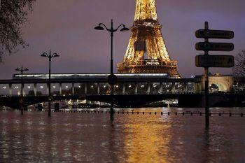 \'ปารีส\'กลายเป็นคลอง หลังระดับ\'แม่น้ำแซน\'สูงต่อเนื่อง-อพยพ1,500คน
