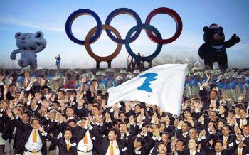 เกาหลีเหนือปกป้องสิทธิ์  สวนสนามวันกองทัพก่อนโอลิมปิก