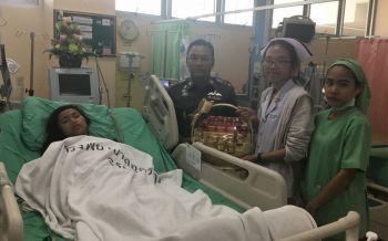 พยาบาลสาวพ้นขีดอันตรายแล้ว! หลังถูกเก๋งพุ่งชนท้ายรถจยย.
