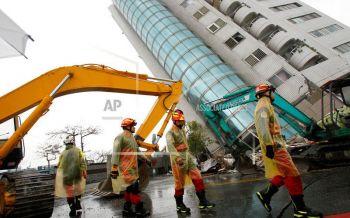 ไต้หวันเร่งค้นหาผู้สูญหาย  ดินไหว 6.4 ตายเพิ่มเป็นอย่างน้อย 10 คน