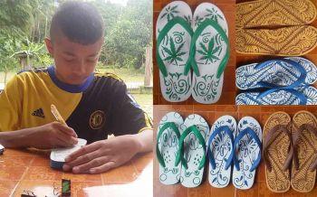 สุดยอดฝีมือเด็กไทย! แกะสลักรองเท้าหารายได้เลี้ยงน้อง-ดูแลแม่ป่วย (ชมคลิป)