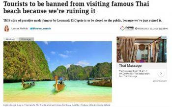 ให้ธรรมชาติได้พักบ้าง! สื่อแดนจิงโจ้ตีข่าวทางการไทยปิด'อ่าวมาหยา'