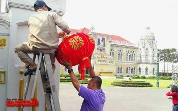 แก้เคล็ดอ่างแตก บิ๊กตู่สั่งติดโคมแดงตรุษจีนรอบทำเนียบ (ประมวลภาพ-ชมคลิป)