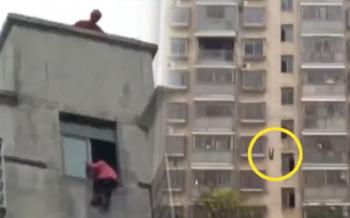 เด็กจีนวัย12ปีเครียดจัด\'ทำการบ้านไม่เสร็จ\' โดดตึก15ชั้นหวังฆ่าตัวตาย (ชมคลิป)