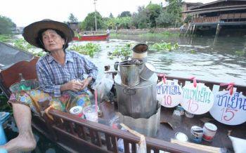 'ยายเชง'!ตำนาน60ปีกาแฟโบราณ'เรือพาย' ลำสุดท้ายแห่งลุ่มน้ำแควอ้อม