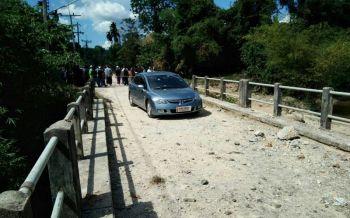 ดักบึ้มสะพานรือเสาะ!รถเสียหาย2คัน โชคดีไร้เจ็บ-ตาย