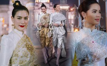 งดงามไม่แพ้หญิงในวรรณคดี \'ญาญ่า-คิมเบอร์ลี่\'สวยตระการตาในชุดไทย