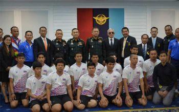กองทัพไทยพร้อมสนับสนุน แข้งทองผู้พิการทางสายตาเข้าชิงแชมป์โลกที่สเปน
