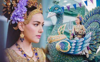 งดงาม! \'คิมเบอร์ลี่\'ในชุดไทยแปลงโฉมเป็นนางสงกรานต์