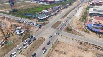 การจราจร\'สี่แยกอินโดจีน\'มุ่งหน้าภาคเหนือ เตือนผู้ขับมีก่อสร้างโปรดระมัดระวัง