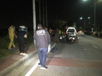 หนุ่มพม่าซิ่งรถมาฉลองสงกรานต์ถึงเมืองนนท์ ขากลับรถคว่ำดับ ไปไม่ถึงที่พัก